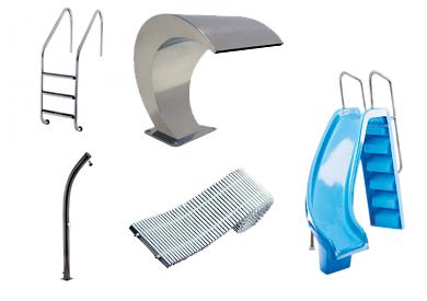 escaleras duchas y otros accesorios para piscinas categoria tienda Tarragona