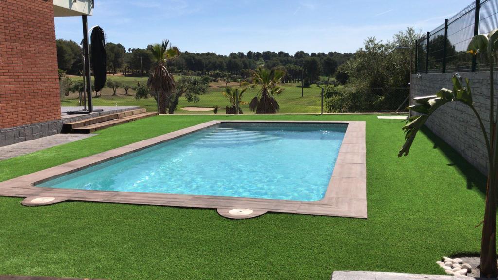 construcción de piscina particular Campo de golf Catllar 2