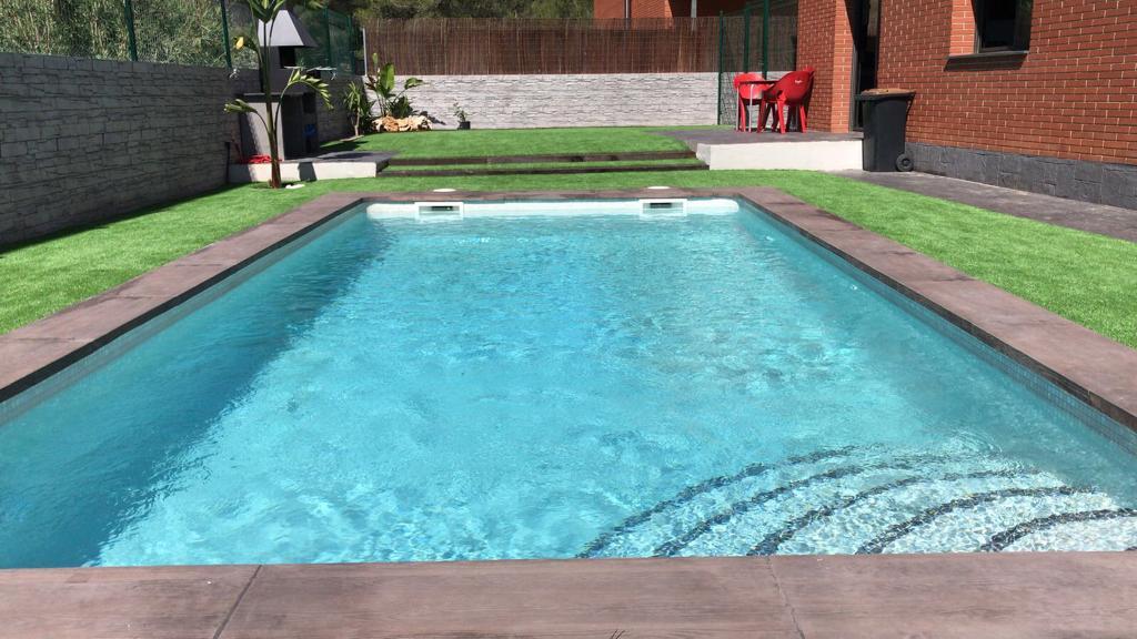 construcción de piscina particular Campo de golf Catllar 4