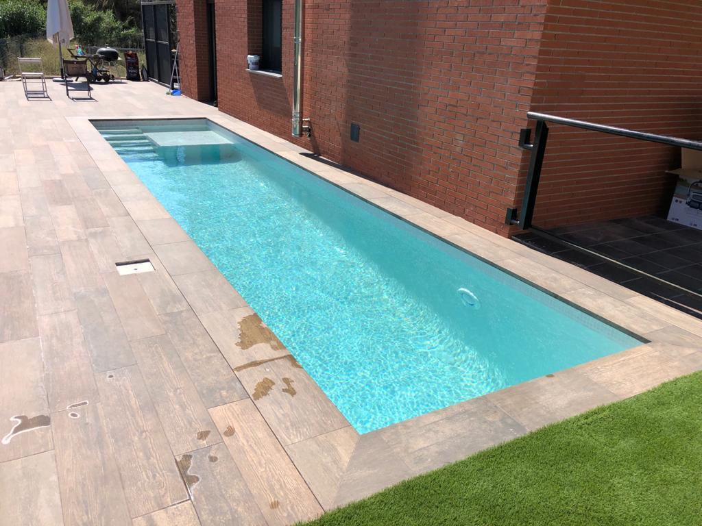 construcción de piscina. particular Campo de golf el Catllar 8