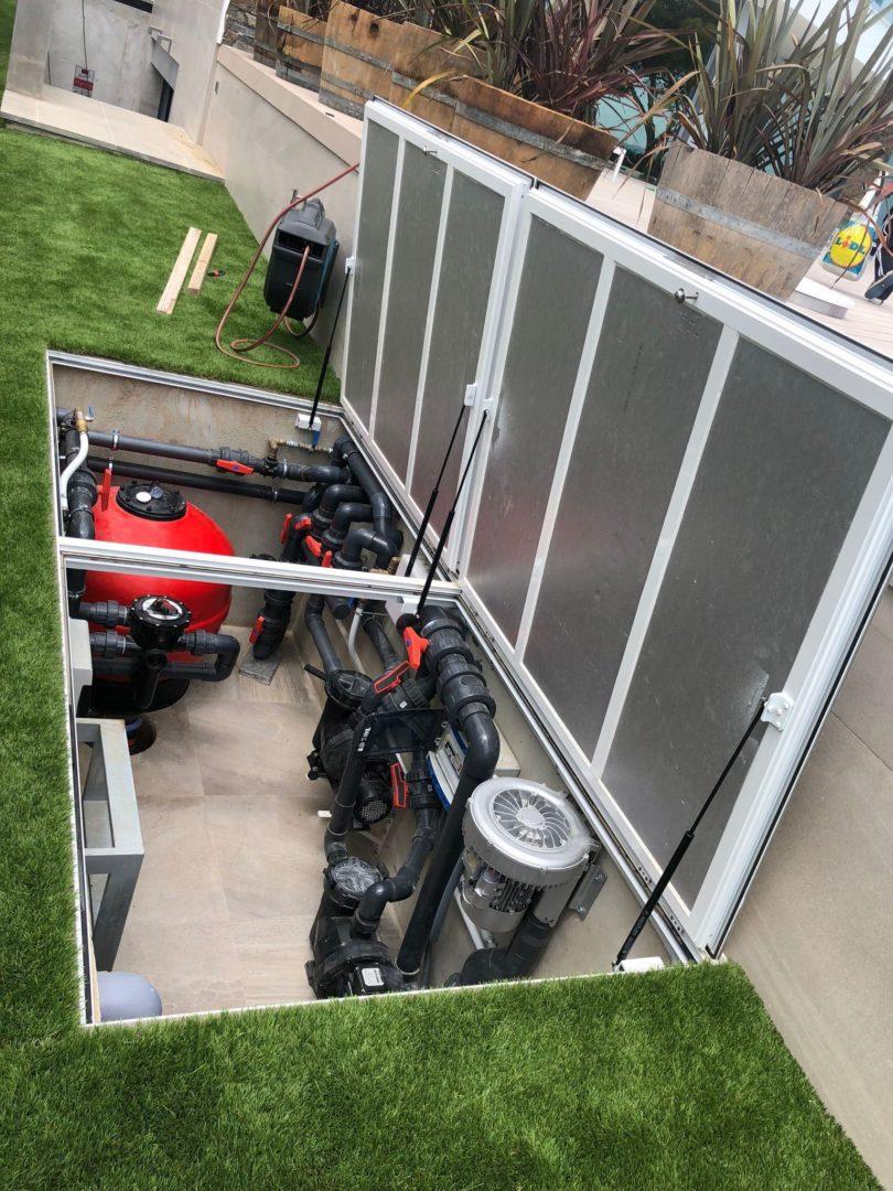 instalación equipo de filtrado para piscina en Tarragona consrucción